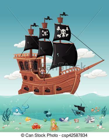 Dessin Animé Bateau Pirate by Gar 231 On Bateau Pirate Dessin Anim 233 Gar 231 On Fish Water