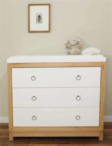 small modern best baby changing table dresser with leather
