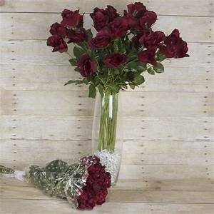 48 pcs Long Single Stem Rose Bundles - Wedding Silk ...
