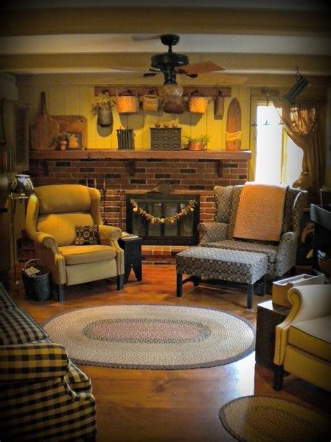 primitive living rooms home decor colors