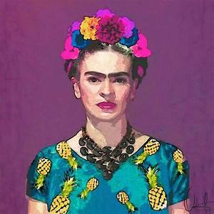 Frida Kahlo Kunstwerk : trendy frida kahlo as canvas print by xchange art studio juniqe ~ Markanthonyermac.com Haus und Dekorationen