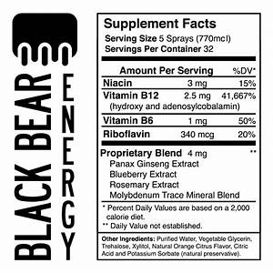 Black Bear B12 | Black Bear Energy Spray