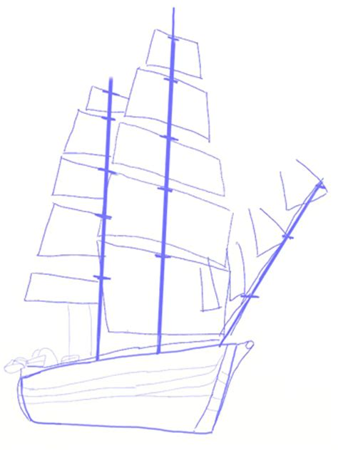 How To Draw A Old Boat by Drawn Yacht Sail Ship Pencil And In Color Drawn Yacht