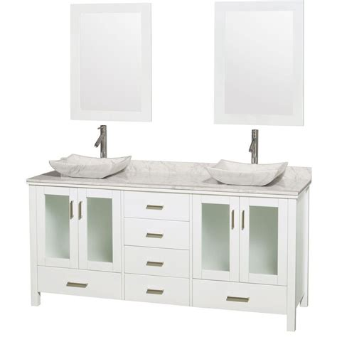Home Depot Bathroom Sinks Canada by Wyndham Collection Vanity In White With Top In