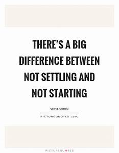 There's a big difference between not settling and not ...