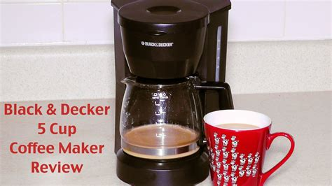 Black and Decker Coffee Maker Review   DCM600W 5 Cup Drip Coffeemaker   YouTube