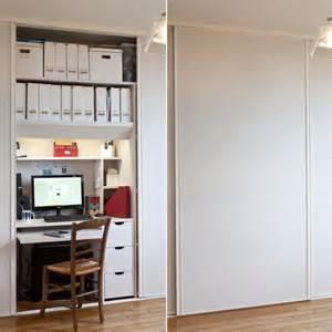 transformer un placard en bureau am 233 nager un coin bureau dans un petit espace journal des femmes