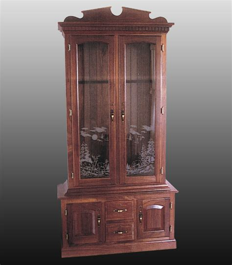 wood gun cabinet with etched glass frosted glass for cabinet doors white overhead kitchen