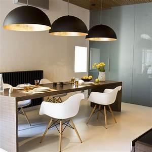 Pendelleuchte Für Esszimmer : s luce blister pendelleuchte 40 cm schwarz goldfarben 10655 ~ Markanthonyermac.com Haus und Dekorationen