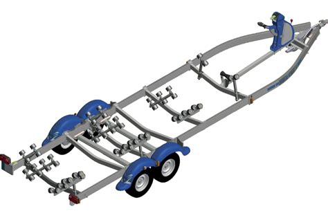 Nautilus Boottrailer by Remorque Multi Rouleaux 2 Essieux Frein 233 E Nautilus N252mf 80