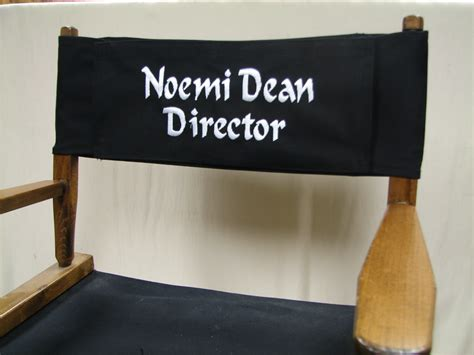 embroidered personalized replacement canvas for directors chair stick