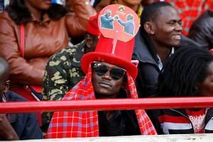 Stampede and protests as Kenya's President Uhuru Kenyatta ...