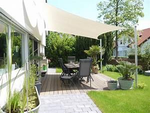Sonnenschutz Für Terrasse : moderne beschattung f r ihre terrasse ein sonnensegel nach ma ~ Markanthonyermac.com Haus und Dekorationen