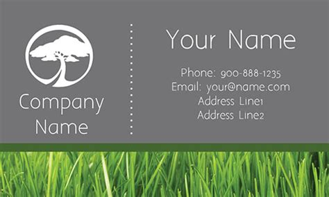 Lawn Service Grass Business Card
