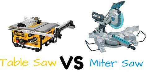 Table Saw Vs Miter Saw [which One Should I Use?]