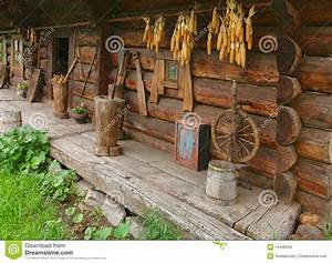 Ancient Wooden House From Ukraine Stock Photo - Image ...
