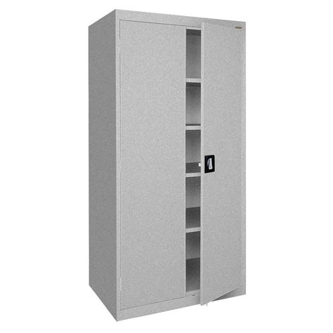 sandusky elite series 72 in h x 36 in w x 24 in d 5 shelf steel recessed handle storage