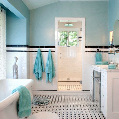 black white teal room ideas bathroom home painted walls black trim and tile