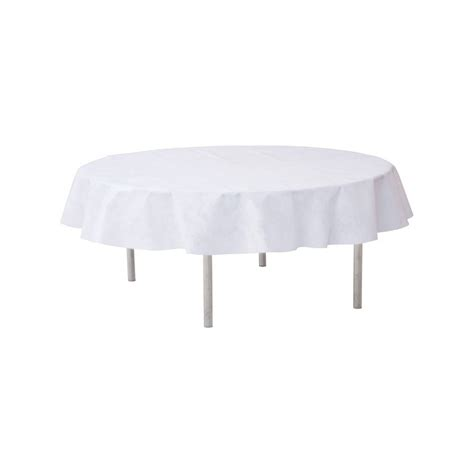 nappe ronde jetable 240 cm blanche nappe jetable