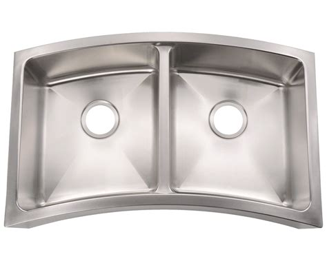 404 Curved Double Bowl Apron Stainless Steel Kitchen Sink Wall Tile Calculator Bathroom Glass For The Full Ideas Sink Countertop Paint Kids Decor Small Design Uk