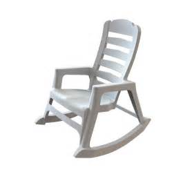 shop mfg corp white resin slat seat outdoor rocking chair at lowes