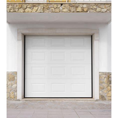 porte de garage sectionnelle artens h 200 x l 240 cm leroy merlin