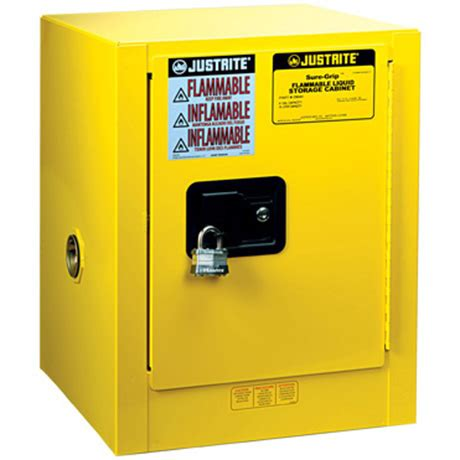 justrite 892300 sure grip ex flammable safety cabinet 22 gallon 1 shelf 2 manual doors