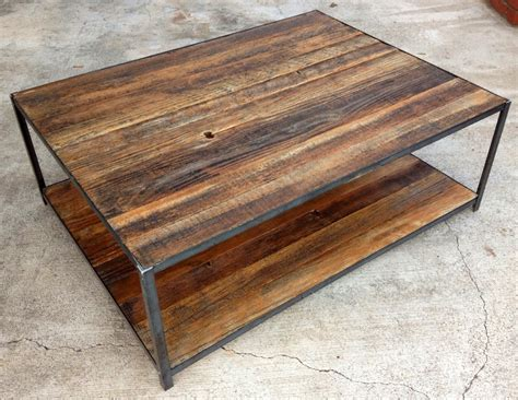 Reclaimed Wood And Angle Iron Coffee Table $40000, Via