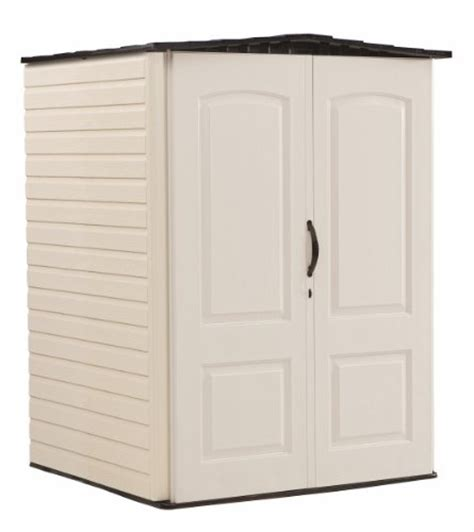 awardpedia rubbermaid roughneck plastic medium vertical storage shed 106 cubic fg5l2000sdonx