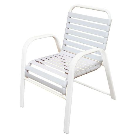 marco island white commercial grade aluminum patio dining chair with white vinyl straps 2 pack