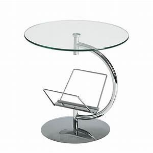 Tisch Glas Metall : couchtisch beistelltisch rund glas metall 50cm zeitungsst nder tisch neu ebay ~ Markanthonyermac.com Haus und Dekorationen