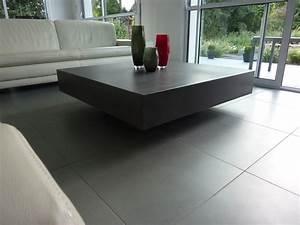 Beton Cire Verarbeitung : table basse design en b ton h lium table design en b ton cir ~ Markanthonyermac.com Haus und Dekorationen