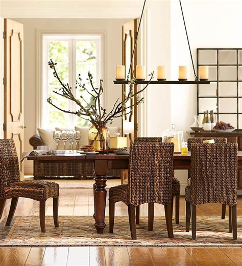 seagrass chairs are for this dining room potterybarn dining room