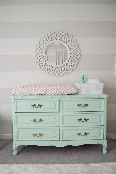 s mint pink and coral nursery mint dresser