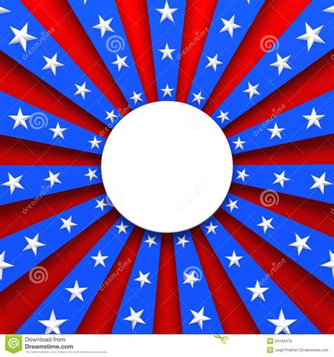 Red, White, And Blue Background Stock Illustration Image