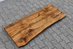 Nussbaum Platte Kaufen : waschtisch tischplatte platte nussbaum massiv holz mit baumkante neu leimholz eur 539 00 ~ Markanthonyermac.com Haus und Dekorationen