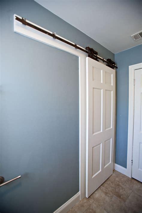 barn door for bathroom bungalow bathroom remodel