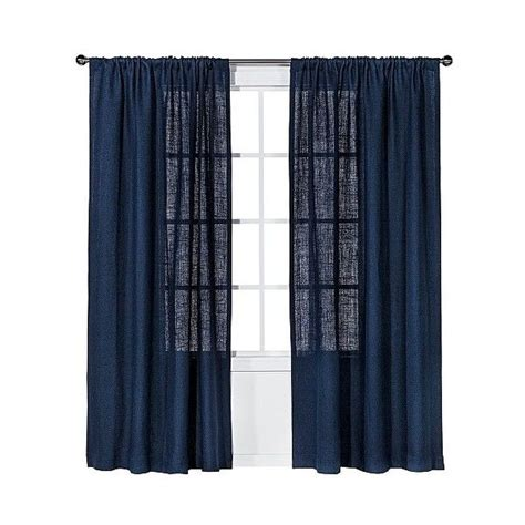 Nate Berkus Metallic Curtains by 25 Best Ideas About Navy Blue Curtains On