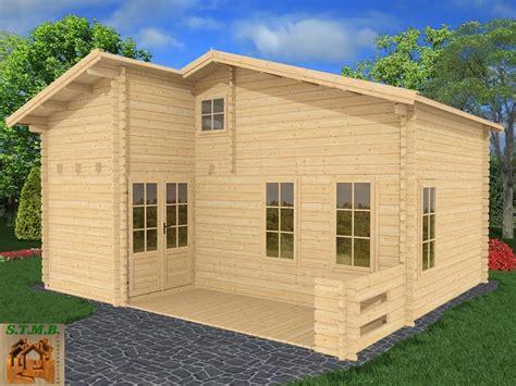 chalet bois habitable en kit mod 232 le orme 33 m2 avec mezzanine