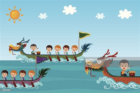 Dragon Boat Festival Vector by Dragon Boat Festival Vector Art Getty Images
