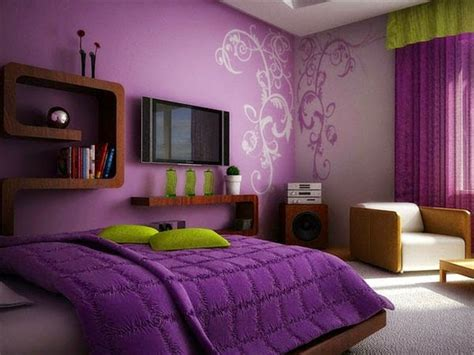 Purple Bedroom Ideas, Curtains, Accessories And Paint