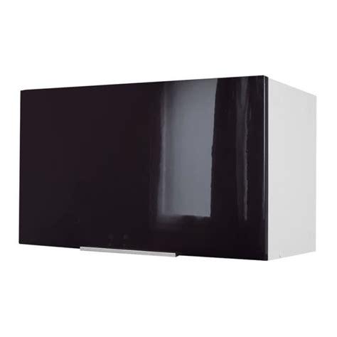 pop meuble hotte 60 cm noir haute brillance achat vente 233 l 233 ments haut caisson hotte 60 cm