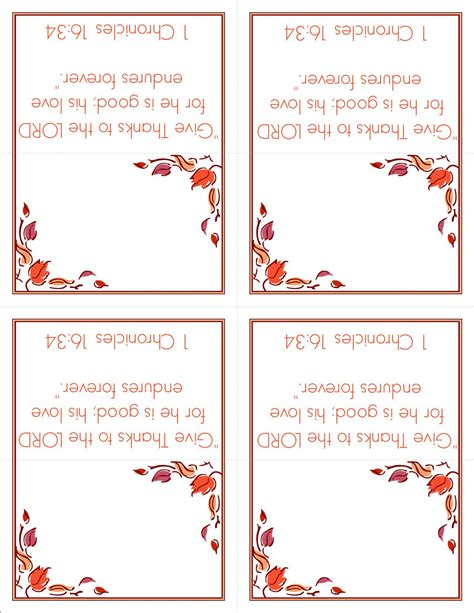 Thanksgivng Dinner Pages Template by Free Thanksgiving Printable Card Templates