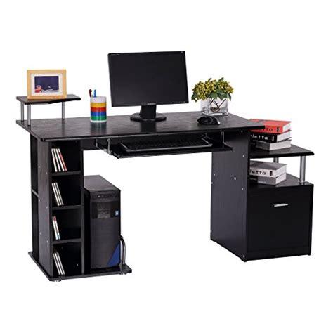 bureau pour ordinateur table meuble pc informatique en mdf noir neuf 13