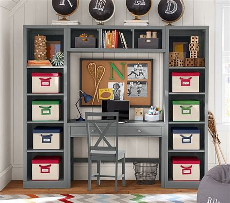 desk storage wall system pottery barn