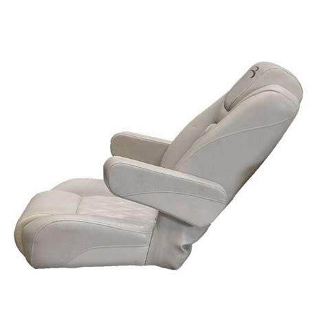 bennington oem white reclining pontoon boat captains seat chair second ebay