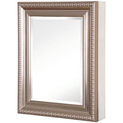 20 in x 26 in recessed or surface mount mirrored medicine cabinet with deco framed door in