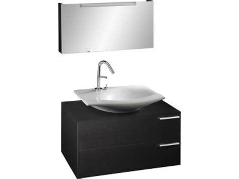 stillness meuble sous vasque 224 poser l 80 x p 48 5 x h 40 cm plaqu 233 bois bois noir achat
