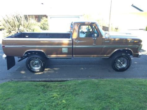 find used 1970 ford f250 ranger xlt cer specia in portland oregon united states