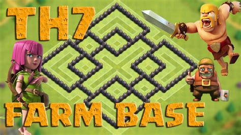 Clash Of Clans (coc) Epic Th7 Farming Base Defense Anti Everything  Dark Elixir  New Update